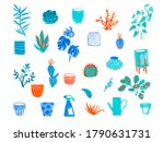 large set with watercolor... | Shutterstock . vector #1790631731
