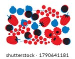 berries and fruits vector on a... | Shutterstock .eps vector #1790641181