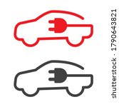 electrical  hybrid car charging ... | Shutterstock .eps vector #1790643821