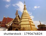 Golden Pagoda Of Wat Prathat...