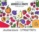 berries and fruits drawing... | Shutterstock .eps vector #1790677871