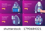 water filtering system concepts ... | Shutterstock .eps vector #1790684321