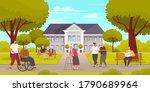 nursing home center for retired ... | Shutterstock .eps vector #1790689964