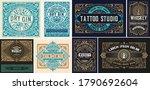 set of vintage logos organized...   Shutterstock .eps vector #1790692604