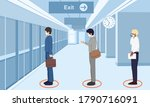safe travels under covid 19... | Shutterstock .eps vector #1790716091