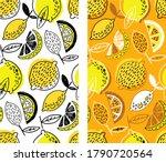 citrus hand drawn doodle... | Shutterstock .eps vector #1790720564