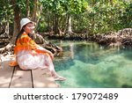 middle creek woman relaxing | Shutterstock . vector #179072489