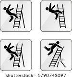 a set of warning vector signs...   Shutterstock .eps vector #1790743097