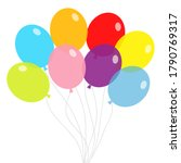 balloon set. bunch of balloons. ... | Shutterstock .eps vector #1790769317