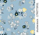 summer flowers on grey... | Shutterstock .eps vector #1790773931