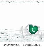 pakistan patriotic background....   Shutterstock .eps vector #1790806871