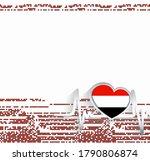yemen patriotic background....   Shutterstock .eps vector #1790806874
