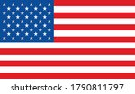 usa flag  official colors and... | Shutterstock .eps vector #1790811797