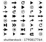 set of arrows black icon ... | Shutterstock .eps vector #1790817764
