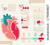 human heart info graphic of... | Shutterstock .eps vector #179084807