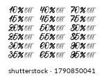 handwritten sale and discount... | Shutterstock .eps vector #1790850041