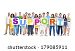 multi ethnic group of people... | Shutterstock . vector #179085911