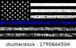 grunge flag usa with police... | Shutterstock .eps vector #1790864504