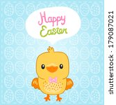happy easter background with... | Shutterstock .eps vector #179087021