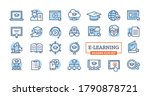 electronic learning linear...   Shutterstock .eps vector #1790878721
