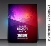 summer beach party flyer  ...