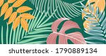 luxury tropical leaf and nature ... | Shutterstock .eps vector #1790889134