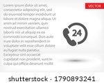 24 h support icon in trendy... | Shutterstock .eps vector #1790893241