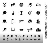 sport game athletic icons on... | Shutterstock .eps vector #179089727