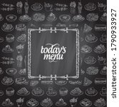 chalk today's menu board design ... | Shutterstock . vector #1790933927