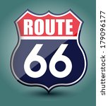 route 66 sign | Shutterstock .eps vector #179096177