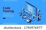 code testing banner. concept of ... | Shutterstock .eps vector #1790976977