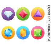 set of flat icons with precious ... | Shutterstock .eps vector #179100365