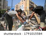 Small photo of August 6, 2020: Lebanese volunteers band together to clean up and give aid in Beirut Downtown after the catastrophic explosion happened in Port of Beirut on August 4, 2020 - Beirut Lebanon
