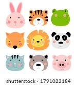 cute hand drawn animals...   Shutterstock . vector #1791022184