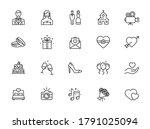 wedding   thin line web icon...   Shutterstock .eps vector #1791025094