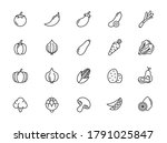 simple set of outline icons... | Shutterstock .eps vector #1791025847