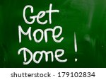 get more done concept | Shutterstock . vector #179102834