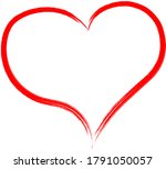 red heart   outline drawing for ...   Shutterstock .eps vector #1791050057