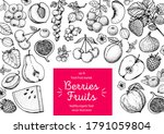 berries and fruits drawing... | Shutterstock .eps vector #1791059804