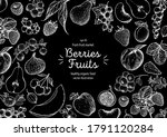 berries and fruits drawing... | Shutterstock .eps vector #1791120284