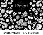 berries drawing collection.... | Shutterstock .eps vector #1791121031
