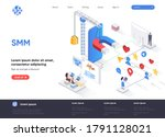 smm isometric landing page....