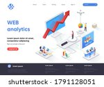 web analytics isometric landing ...