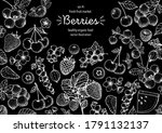 berries drawing collection.... | Shutterstock .eps vector #1791132137