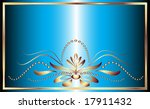 card with an ornament in a gold ... | Shutterstock .eps vector #17911432