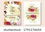 beautiful autumn floral frame... | Shutterstock .eps vector #1791176654