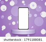 modern smartphone mockup with...   Shutterstock . vector #1791188081