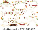 autumn leaves vector design set | Shutterstock .eps vector #1791188507