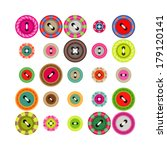 a large set of buttons in... | Shutterstock .eps vector #179120141
