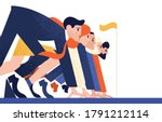 man and woman at business race... | Shutterstock .eps vector #1791212114
